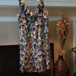 Blu Sage Dresses - Multiprint tribal/Aztec/geo pattern midi dress